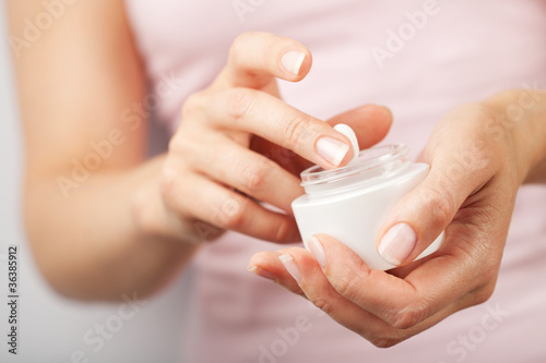 Fotografie, Obraz  beautiful woman hands with cream
