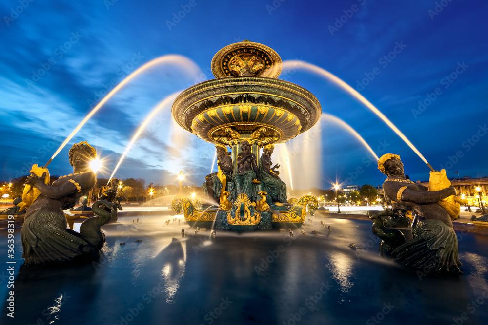Fototapety, obrazy: fontaine place de la Concorde, Paris