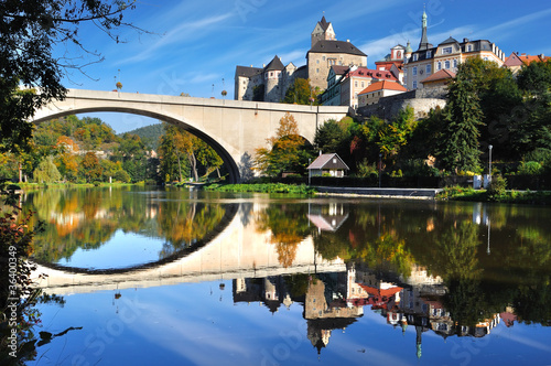 Photo  Castle Loket. Czech republic