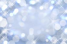 Fond Scintillant Bleu, Lumières De Noël, Arrière-plan Bokeh Pour Fêtes Et Nouvel An