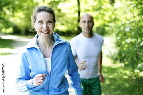 Poster Jogging Joggen im Park