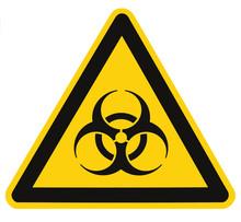 Biohazard Symbol Sign Of Biological Threat Alert Isolated Black