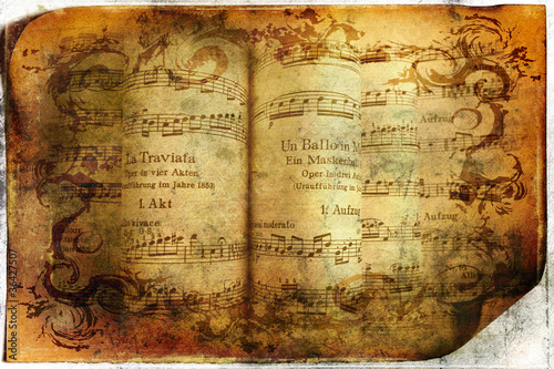 Fotografie, Obraz Vintage musical background
