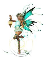 Turquoise Pixie CA Ornament