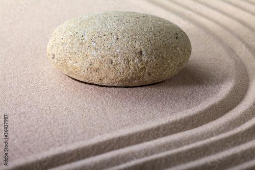 Acrylic Prints Stones in Sand zen garden