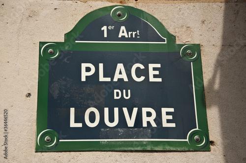 Fotografie, Obraz  place du Louvre