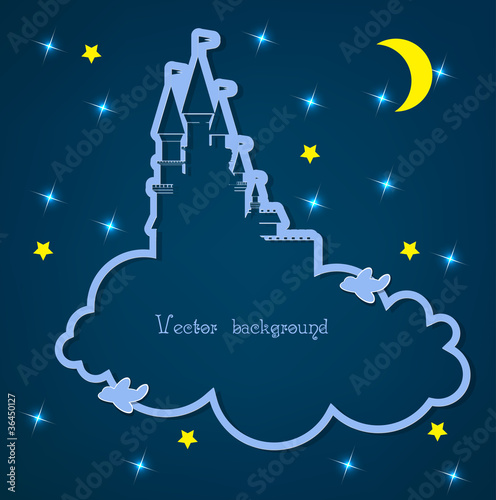Poster Ciel cloud and night vector
