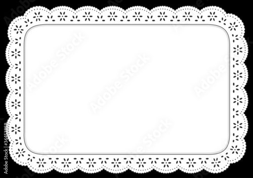 Fotografia, Obraz  Place mat, White Eyelet Lace