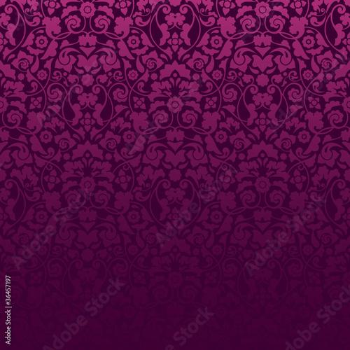 Seamless Damask Pattern Purple