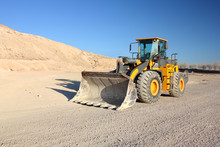 Front View Of Loader Machine A...