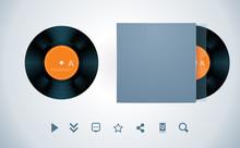 Vector Vinyl Disk And Envelope