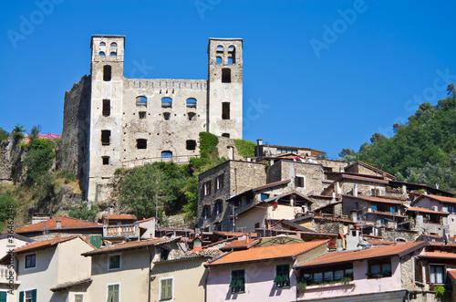 Fotografie, Obraz  Liguria: Borgo e Castello dei Doria a Dolceacqua