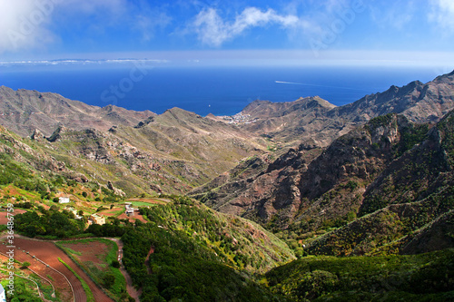Fotografia  Scenic view of hilly country of Tenerife, Canary Islands