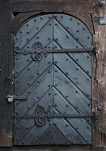 Old Black Wooden Doors