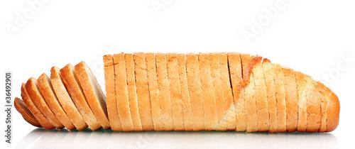 Fototapeta tasty sliced white bread isolated on white obraz
