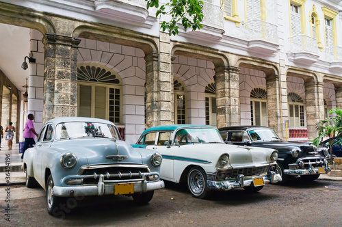 Canvas Prints Cars from Cuba Havana, Cuba. Street scene.