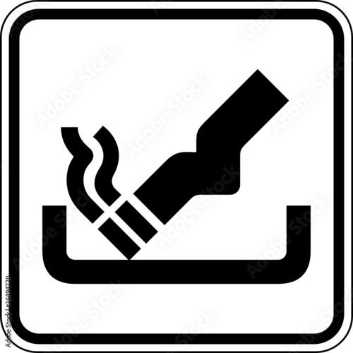 aufkleber aschenbecher zigaretten schild zeichen symbol. Black Bedroom Furniture Sets. Home Design Ideas