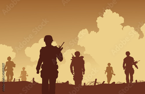 Wall Murals Military On patrol