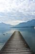 wooden pier in Mondsee,Austria