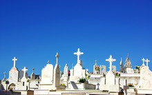 Catholic  Cemetery In Portugal.