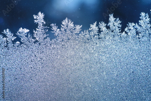 Fotografía ice frost window
