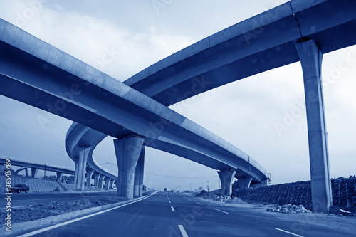 Fotografía closeup of unfinished overpass in china