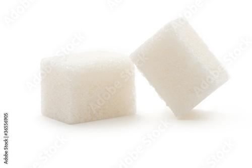 Fotografie, Obraz  Sugar isolated on the white background