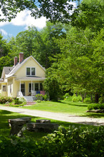 Yellow New England House