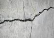 canvas print picture - stone crack