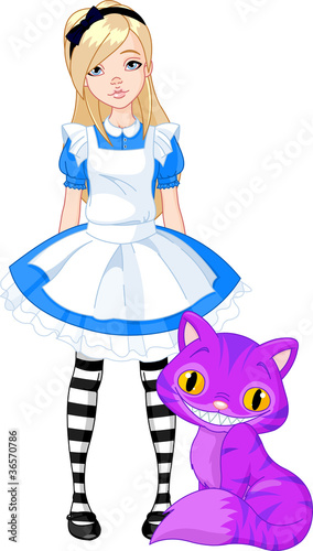 Poster Magic world Alice in Wonderland