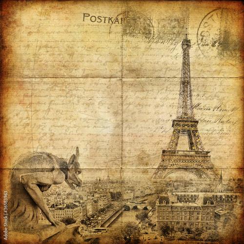 Recess Fitting Illustration Paris vintage letter - Paris