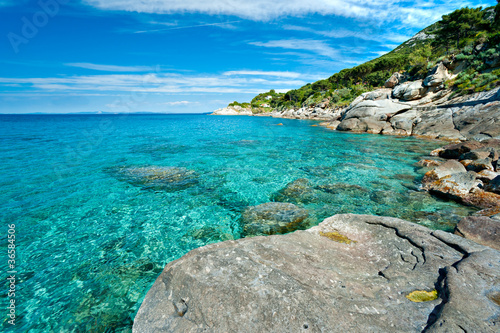 Foto-Schiebegardine Komplettsystem - Capo Bianco beach, Elba island. (von Luciano Mortula-LGM)