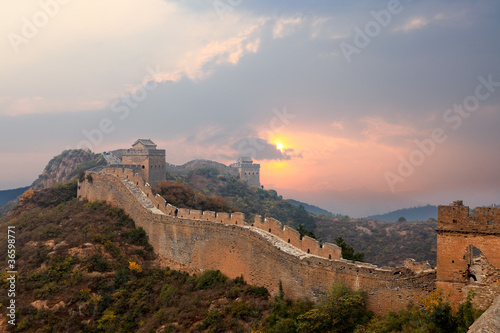 Recess Fitting Great Wall great wall in sunset