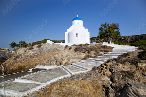 Photo White church in Amorgos island