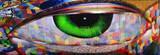 Fototapeta Młodzieżowe - looking eye on brick wall San Francisco