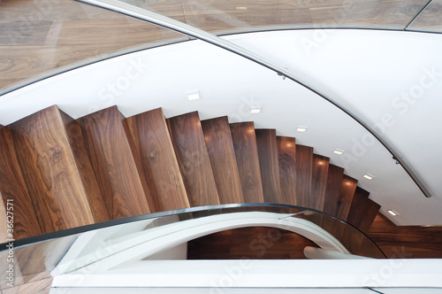 Photo Stands Stairs modern curved staircase