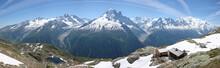 Panaroma Sur La Chaîne Du Mont Blanc
