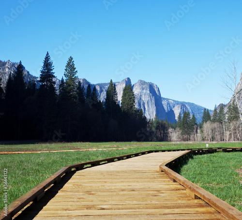 Montage in der Fensternische Naturpark Yosemite