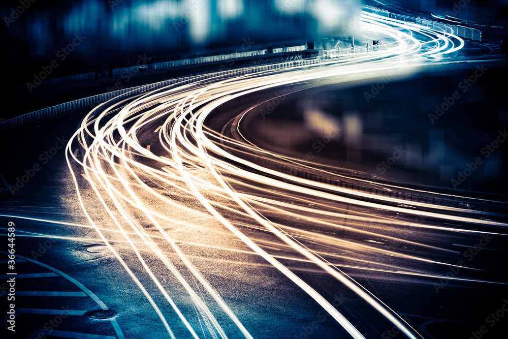 Fototapety, obrazy: light trails