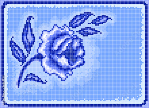 Foto op Aluminium Pixel Square pixel rose background
