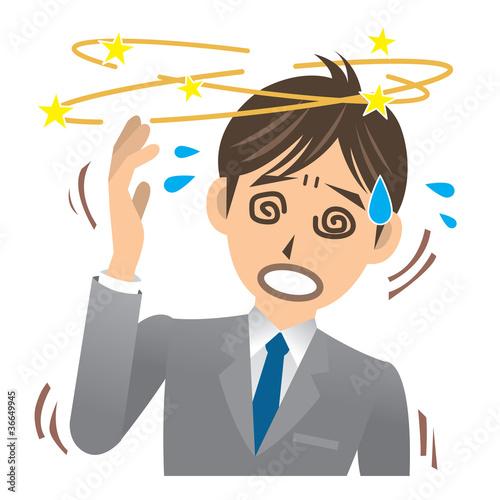 Fotografie, Obraz  ビジネスマン A 病気 目眩 _