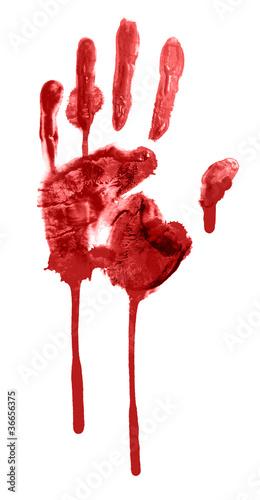 Valokuva  bloody handprint