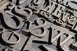 old font bookbinding, print