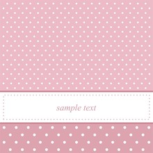 Sweet Pink Polka Dots Card Invitation For Birthday, Baby Show