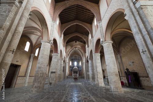 Anagni (Frosinone, Lazio, Italy) - Medieval cathedral interior Canvas Print