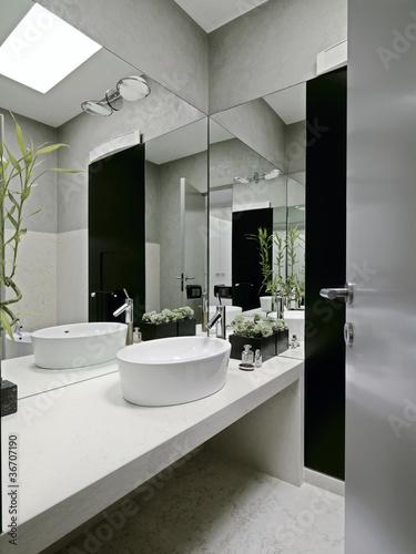 bagno moderno con piante grasse - Buy this stock photo and explore ...