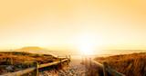 Untergehende Sonne über dem Ozean
