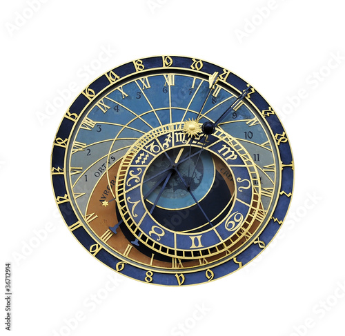 Fotografia, Obraz  Astronomical clock in Prague
