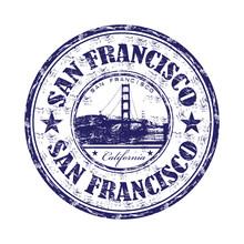 San Francisco Grunge Rubber Stamp