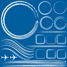 Design Elements Of Aircraft With Smoke Trails